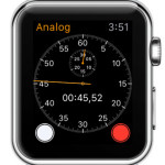 apple watch analog 1-dail stopwatch