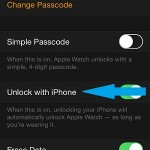 apple watch app passcode settings