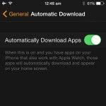 apple watch automatic app download setting