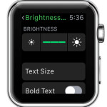 apple watch brightness setting