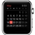 apple watch calender current month view