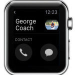 apple watch contact details