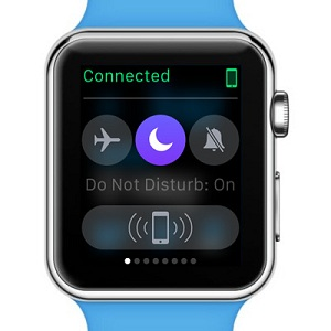 apple watch do not disturb on