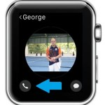 apple watch favorite contact menu