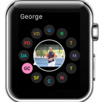 apple watch favorite contacts screen