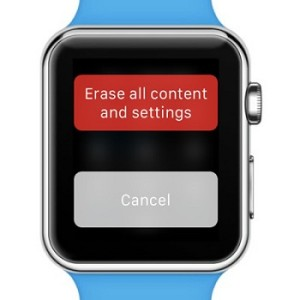 Reset all Apple watch contents and settings