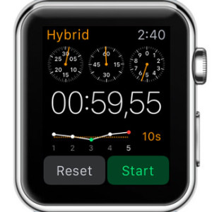 apple watch hybrid stopwatch display
