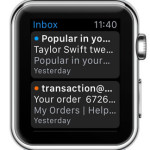 apple watch mail app home screen