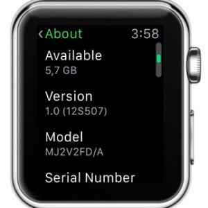 apple watch os version info
