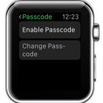 apple watch passcode settings