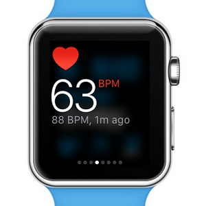 apple watch real-time heart rate display