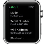 apple watch serial number in settings menu