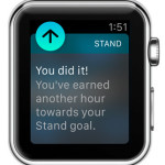 apple watch stand confirmation