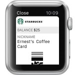 apple watch starbucks pass