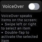 apple watch voiceover feature