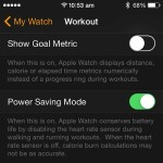 apple watch workout settings