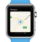 current location on apple watch maps glance