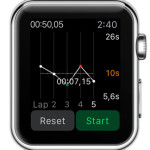 graph apple watch stopwatch view