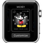 mickey mouse watch face customization