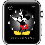 mickey mouse watch face with expanded calendar complication