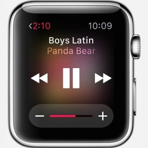 music playing on apple watch