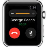 ongoing call on Apple Watch