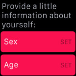 personal information for apple watch activity app