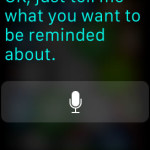 siri aking for reminder reason