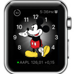 stocks info on mickey mouse watch face