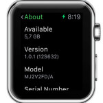 watch os 1.0.1 installed on apple watch