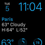 weather modules on modular watch face