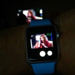 Apple Watch playing TV feed