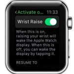 apple watch activate on wrist raise settings