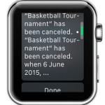 apple watch calendar event notification