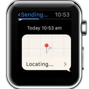 apple watch locating your position