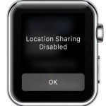 apple watch location sharing disabled