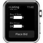 apple watch place bid button