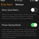 apple watch power saving mode