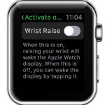apple watch wrist raise disabled