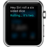 ask siri to roll a dice