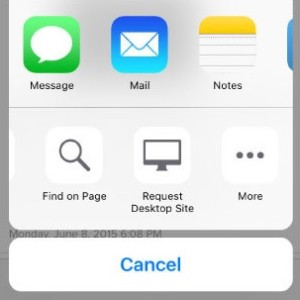 find on page ios 9 safari share sheet