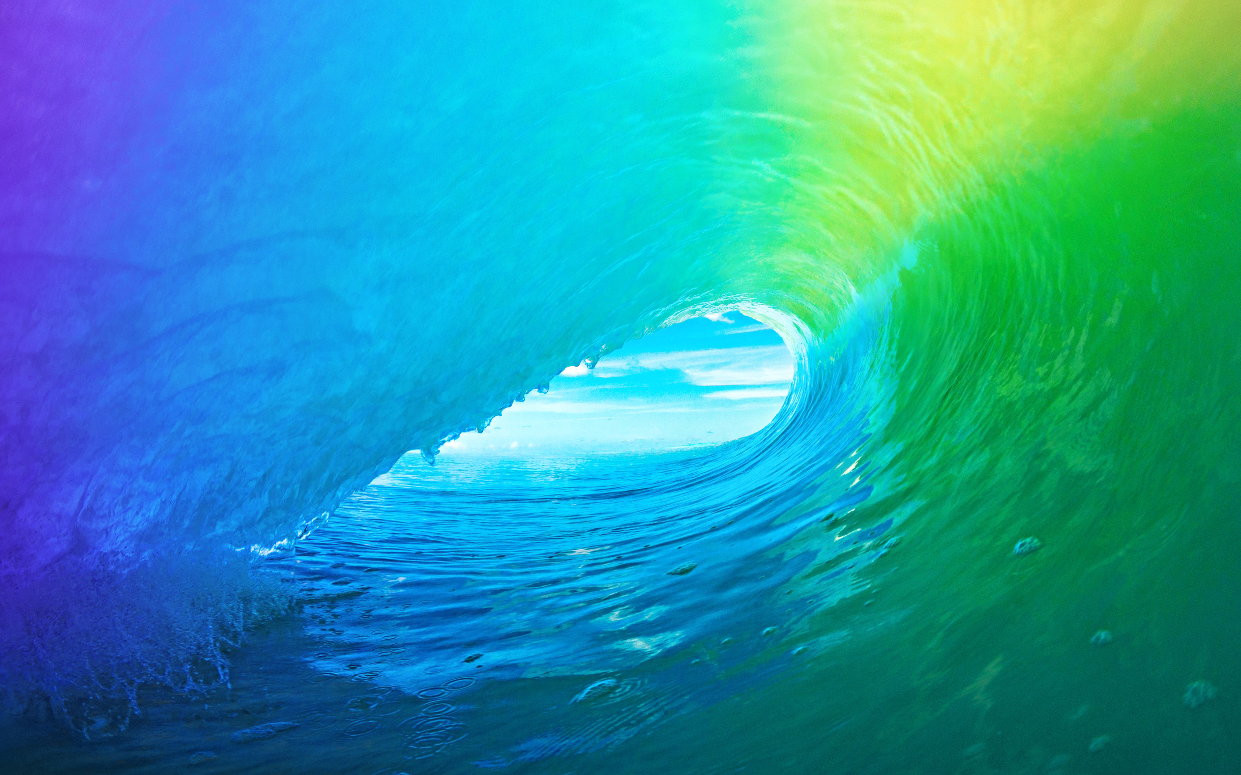 Iphone Wallpaper: Download The Colored Wave Default IOS 9 Wallpaper