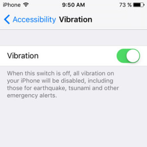 ios 9 iphone vibration setting