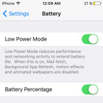 iPhone Low Power Mode With iOS 9