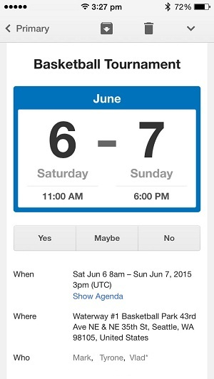 how to add event to iphone calendar from email
