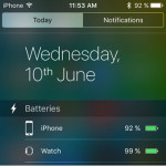 iPhone Batteries Widget Available in iOS 9