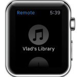 itunes library available on apple watch remote app