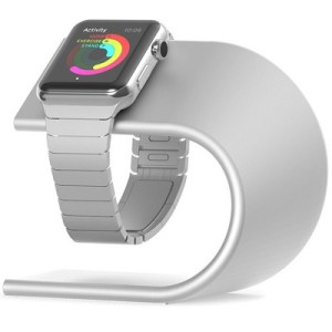 nomad silver apple watch stand