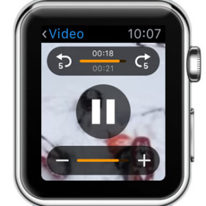 playing video on Apple Watch