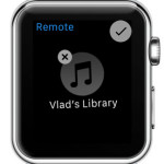 remove itunes library from apple watch remote app